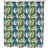 Uneekee Saba Shower Curtain: Large Waterproof Luxurious Bathroom Design Woven Fabric