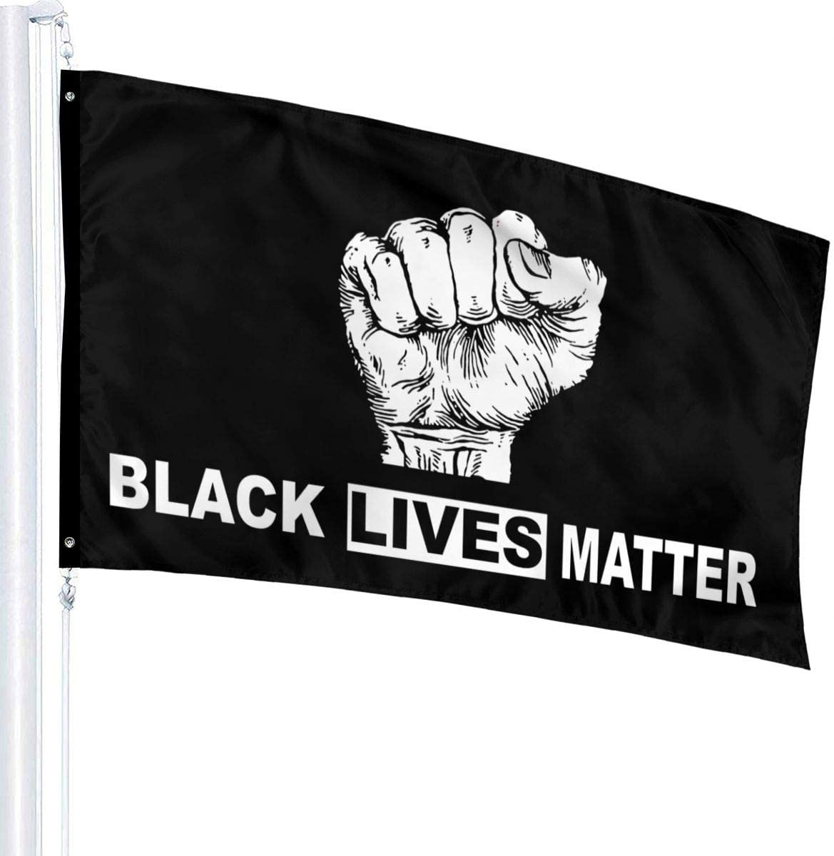 Large 3x5FT Flag Black Lives Matter BLM One Love Protest Peace I Can/'t Breathe