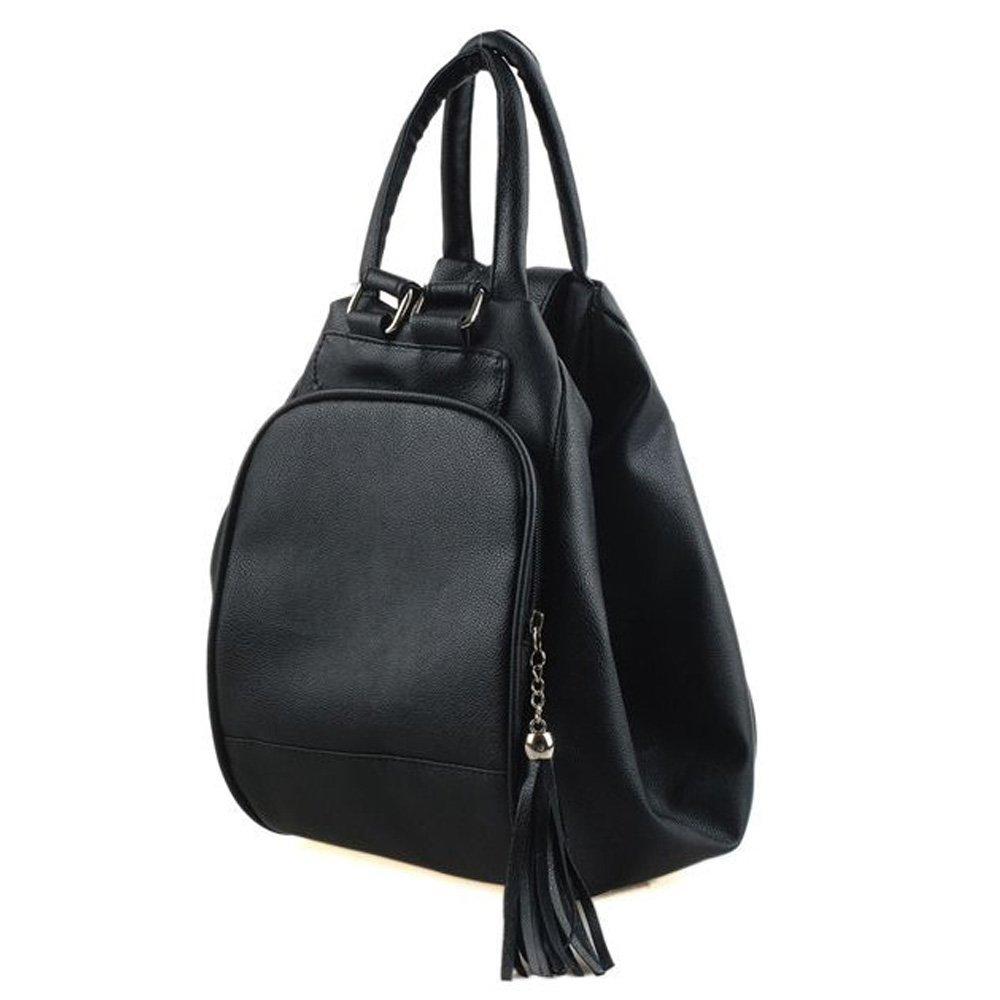 Catkit 3 in 1 Womens Multifunction Hobo Tote Handbag Shoulder Bag Backpack Black