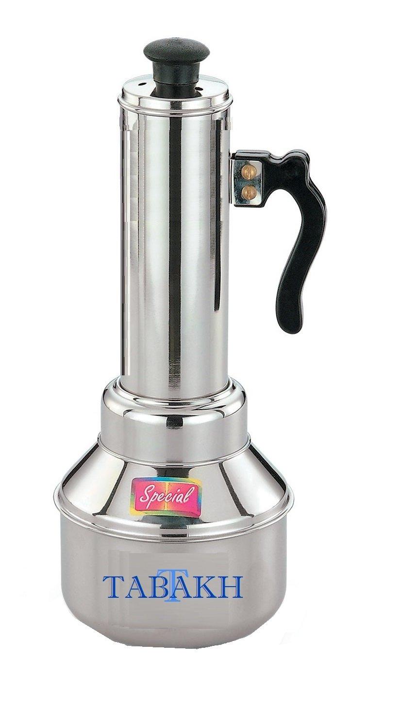 Tabakh Micro Puttu Kudam Cooker Stainless Steel Steamer, 0.5 Liter