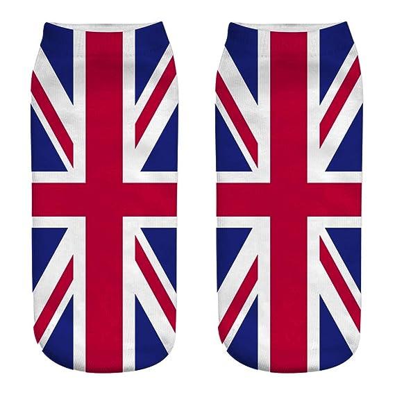 BHYDRY Trabajo informal Bandera nacional 3D Estampado lindo Medias deportivas Calcetines Mujer Unisex: Amazon.es: Ropa y accesorios