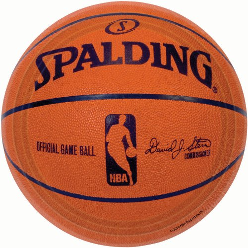 Amscan Sports and Tailgating Spalding Basketball Round Plates