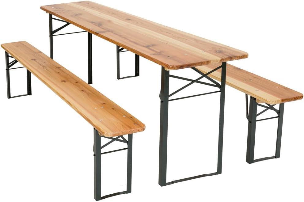 TecTake Conjunto de mesa y bancos de jardín y sillas de terraza muebles cervecería - varios modelos- (Tipo 1 | no. 400871)
