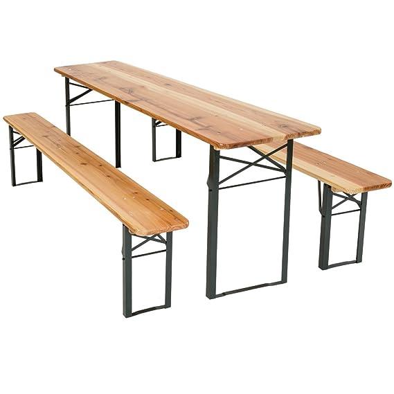 TecTake Conjunto de mesa y bancos de jardín y sillas de terraza muebles cervecería - varios modelos- (Tipo 1 | no. 400871): Amazon.es: Jardín