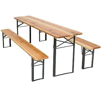 TecTake Conjunto de mesa y bancos de jardín y sillas de terraza muebles cervecería - varios modelos- (Tipo 1 | no. 400871): Amazon.es: Hogar