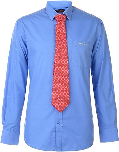 Pierre Cardin Hombre Conjunto De Camisa Formal Y Corbata: Amazon.es: Ropa y accesorios