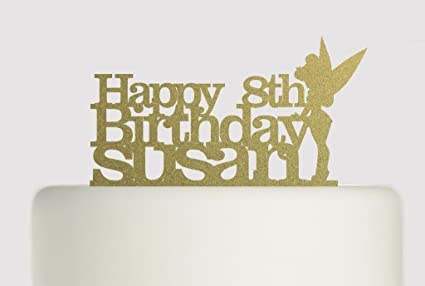 Tinkerbell Birthday Cake Acrylic Topper
