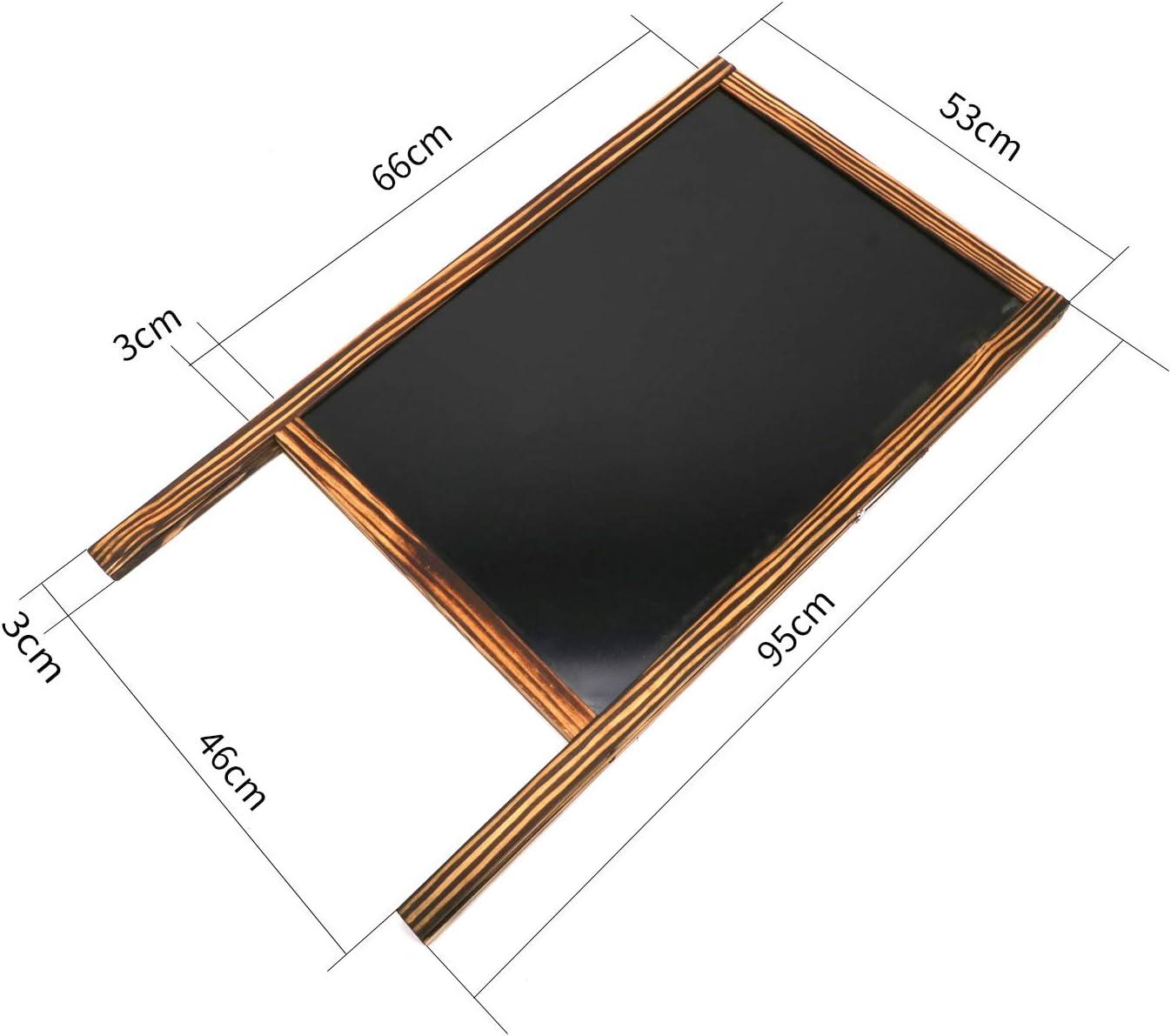 per caff/è magnetica uyoyous Lavagnetta da 95 x 53 cm con cornice in legno hotel ristorante libreria bar in legno