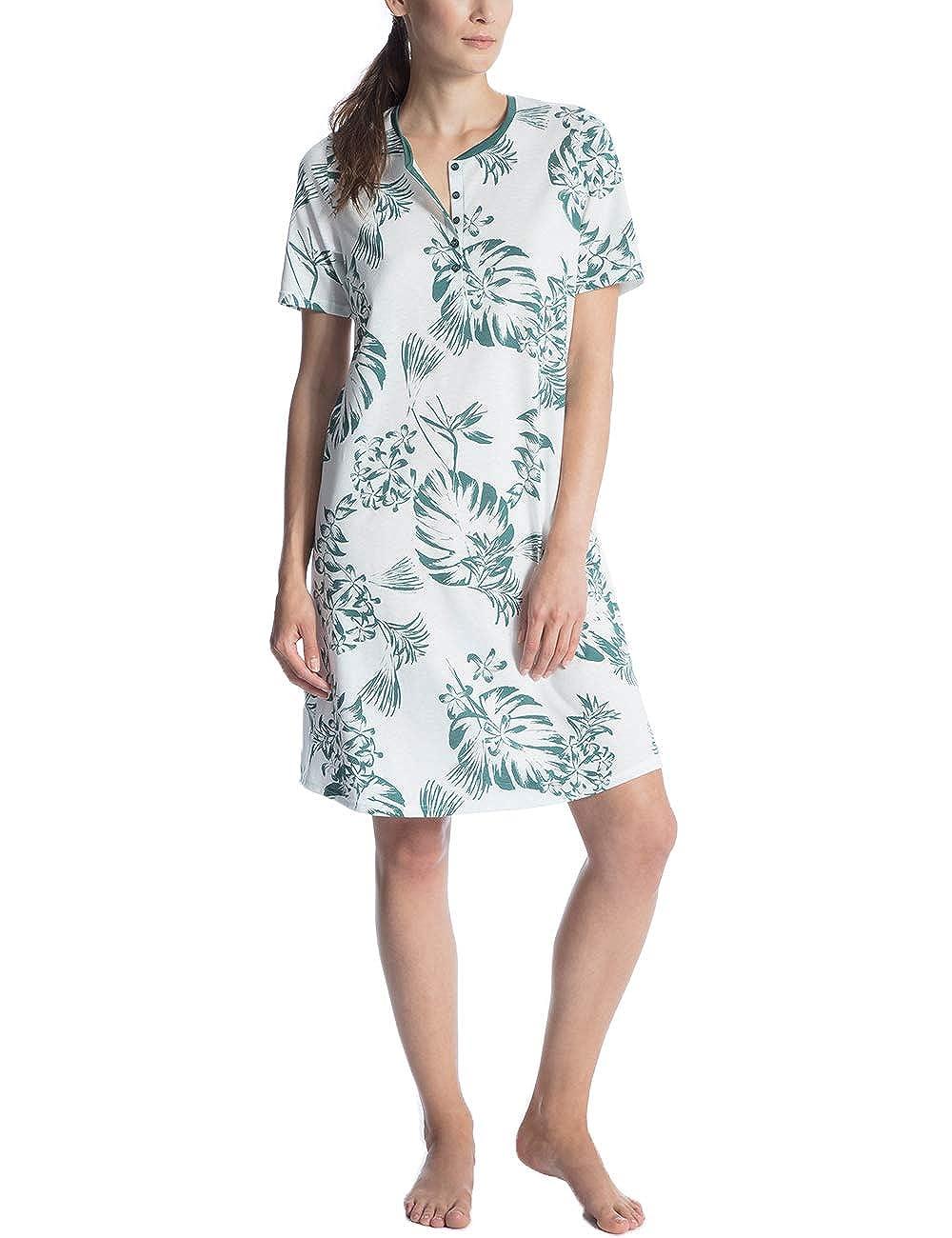 Calida Damen Soft Jersey Fun Nachthemd 95 cm Kurzarm