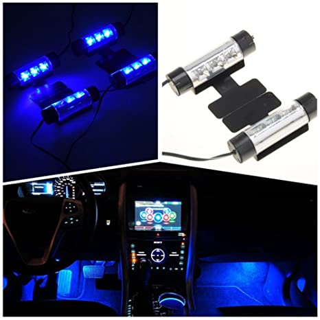 IPUIS 4 en 1 12V LED Néon Eclairage Lampe d\'Ambiance Lumières Bleu ...