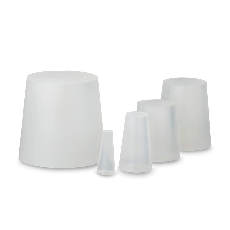 Lot de 10 bouchons en caoutchouc de silicone, 20 x Ø12 x 8 mm