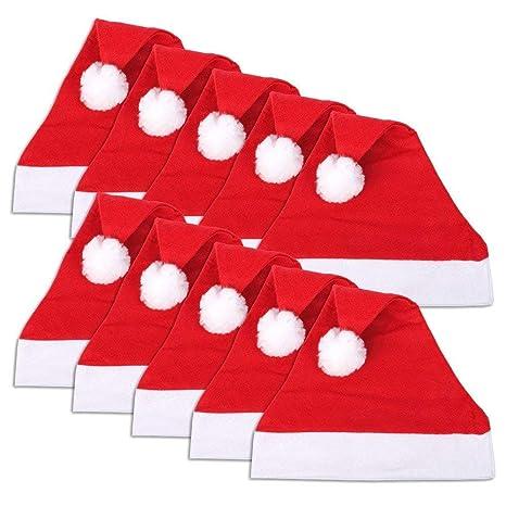 Manualidades Gorros De Navidad.Costura Y Manualidades Ds Pack 24 Unidades Gorro De Navidad