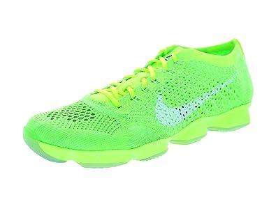 Amazon.com | Nike Women\u0027s Flyknit Zoom Agility Volt/White/Elctrc Grn/Vpr  Grn Training Shoe 6.5 Women US | Road Running