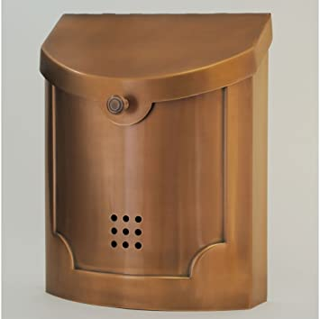 wall mount mailbox home depot whitehall bronze copper plated with address