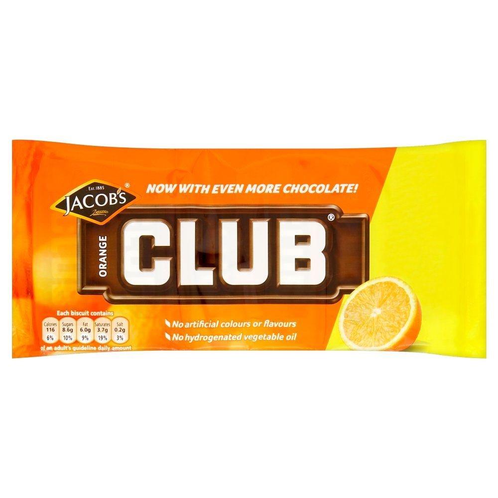 Mcvities Orange Club 22g 12 Pack 22g X 12