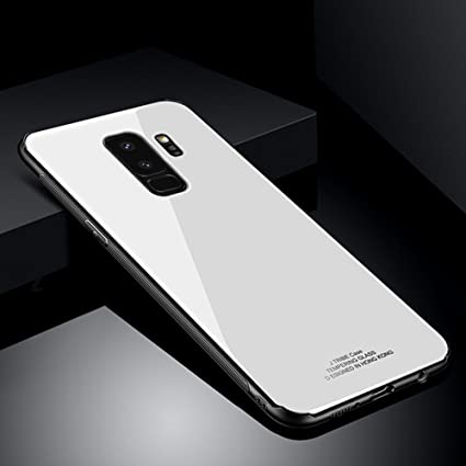 buy popular 1127f 01580 PHEZEN Galaxy S9 Plus Case, Solid Color Shockproof Anti-Scratch Tempered  Glass Back Cover and Plastic Interior Dual Layer TPU Silicone Bumper Case  ...