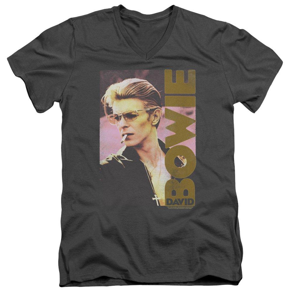 David Bowie Smokin Adult T Shirt 1954