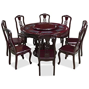China Furniture Online 54in Rosewood and Mother of Pearl Dining Table Set with 8 Chairs  sc 1 st  Amazon.com & Amazon.com - China Furniture Online 54in Rosewood and Mother of ...