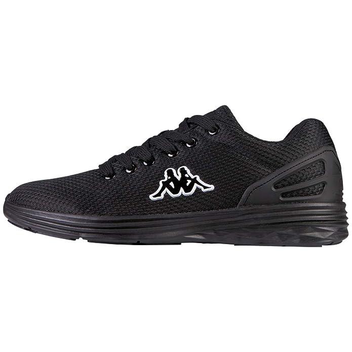 Kappa Trust Sneakers Damen Herren Unisex Schwarz/Weiß (Sohle Schwarz)