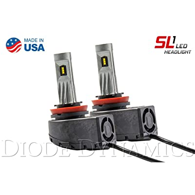 H11 SL1 Cool White LED Headlight Bulbs (pair): Automotive