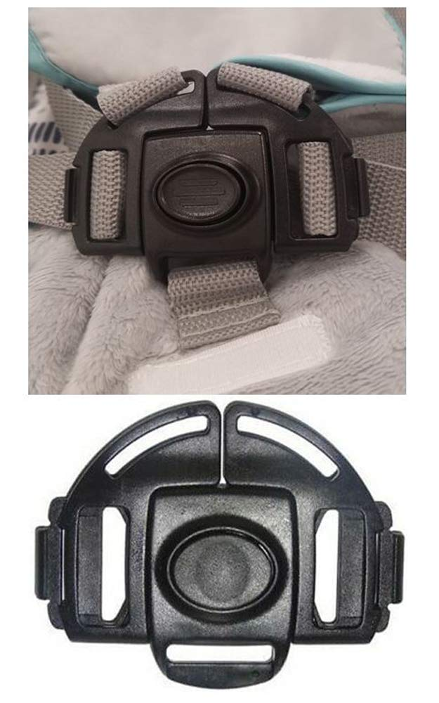 Kids Black 5 Point Harness Buckle Clip Replacement Part Seat Safety for Ingenuity ConvertMe Swing-2-Seat Portable Swing Rocker Bouncer for Babies Children Toddlers