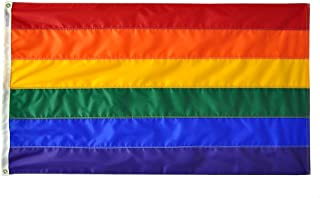 product image for Annin Flagmakers 272415 Rainbow 4x6 ft. Nylon Dyed Design Flag, 100% Made in USA