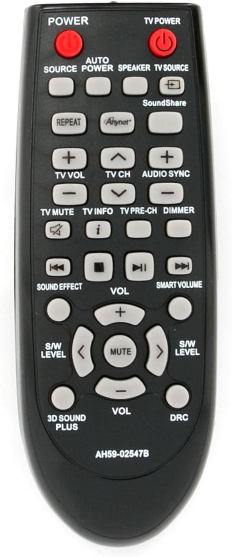 New AH59-02547B Soundbar Remote Control Replacement fit for Samsung Sound Bar AH68-02644D-00 HW-F450 HW-F450ZA HW-FM45 HW-FM45C PS-WF450 HWF450 HWF450ZA HWFM45 HWFM45C PSWF450 AH6802644D00 HW-F450/ZA