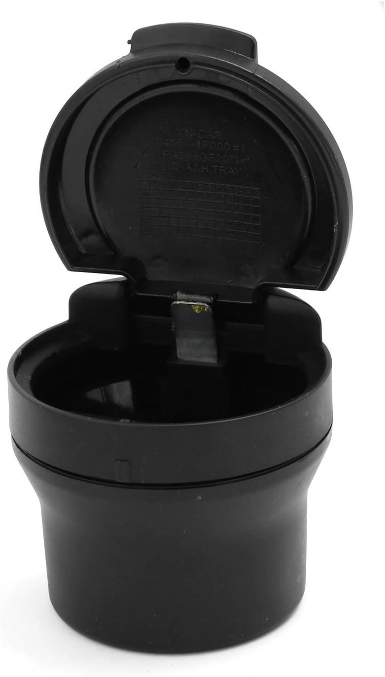 Sourcingmap 70mm X 75mm Cubo Cilíndrico de Plástico Negro Cenicero ...