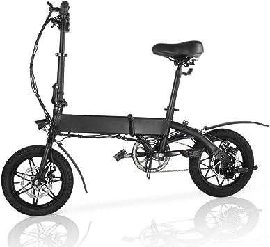 M MEGAWHEELS Bicicleta electrica Plegable, Bicicleta electrica e-Bike hasta 25 km/h, Bici Electricas Adulto con Ruedas de 14