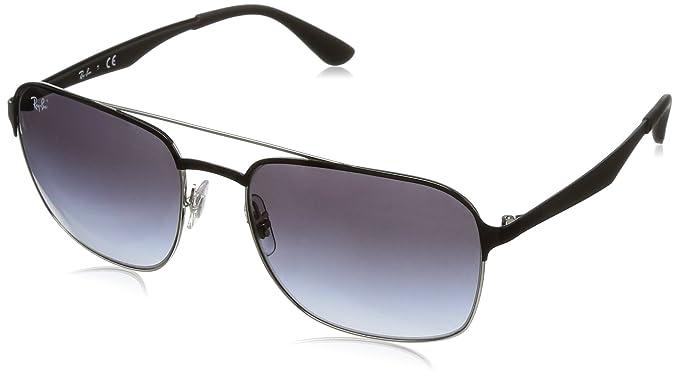 478333b8c9b6d Ray-Ban RAYBAN 3570 Montures de lunettes Argenté (Silver Top Black Gradient  Grey)