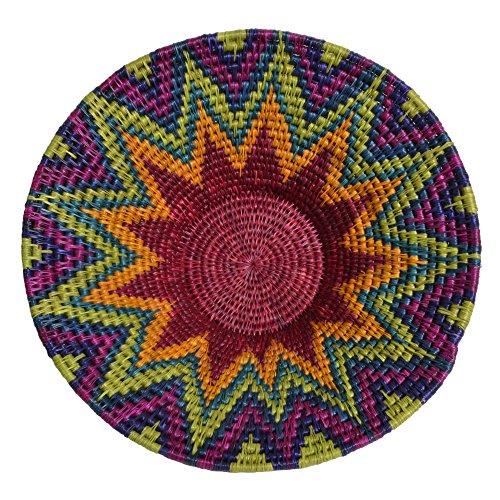 Fair Trade Baskets - African Fair Trade Hand Woven 8.5-inch Basket, Rainbow
