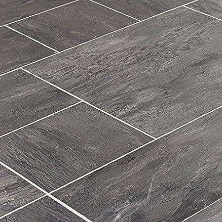 Faus Innovation Midnight Slate 10mm Laminate Tile Flooring Fl831301