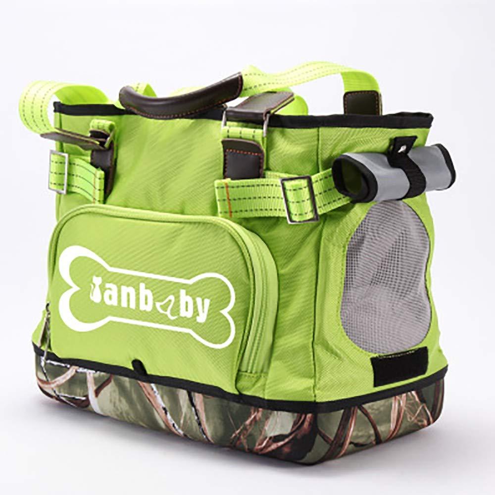 Green YAJANPetTrolleyCase Pet bag Travel bag Satchel Pet supplies Shoulder bag Breathable bag Canvas backpack Handbag Portable Suitable for cats dogs