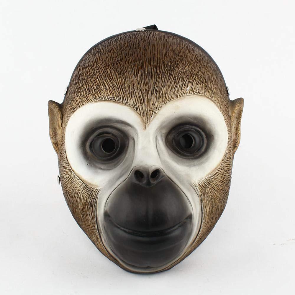 QJXSAN Halloween Masquerade Party Character Dress Up Máscara de Resina Harvest Day Series Monkey Mask Cos