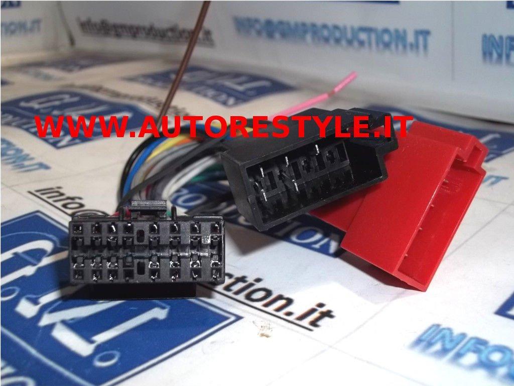 Production G.M CDX MDX MEX ... Cavo elettrico ad ISO adattatore autoradio cable Sony harness radio 16 PIN modelli dal 2000 in poi controllare foto e dettagli 295 Eco