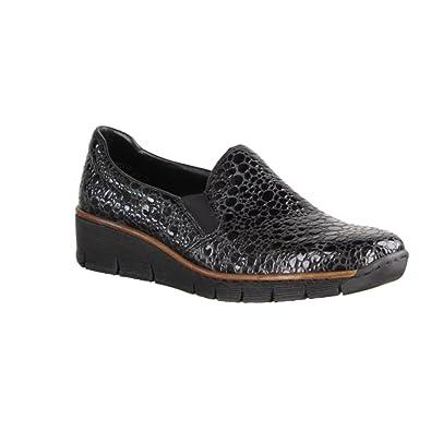 Womens 53766 Loafers, Grau (Schwarz), 5 UK Rieker