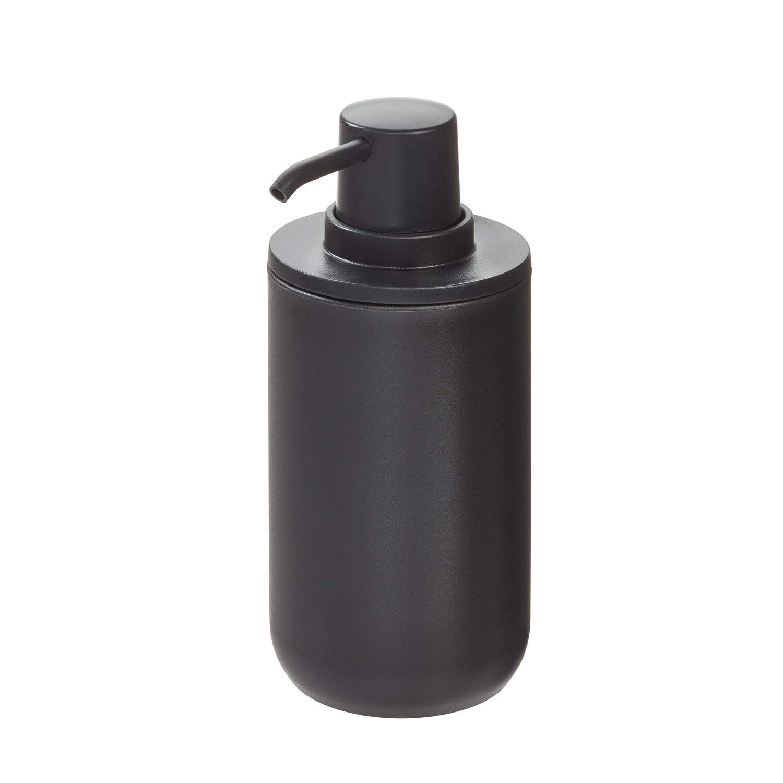 Azul Bote dosificador Recargable para jab/ón o loci/ón de 355 ml de Capacidad 8,0 cm de di/ámetro x 16 cm InterDesign iDesign Dispensador Redondo en pl/ástico para ba/ño o Cocina