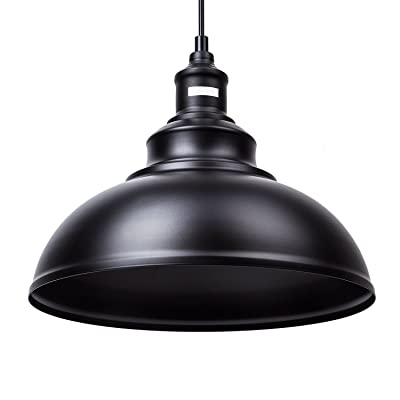 Lightess Luminaire Suspension Vintage Retro E27 Style Industrial En