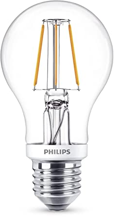Philips - Bombilla decorativa LED con filamento, E27, 4.5 W, equivalente a 40