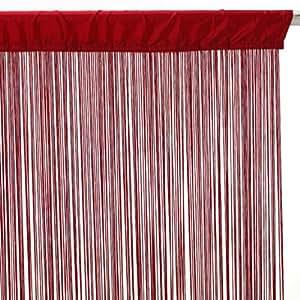 Générique hilo rojo cortina de tamaño 120 x 240 cm