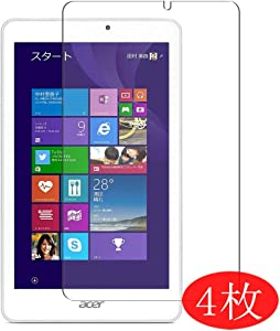 """【4 Pack】 Synvy Screen Protector for Acer iconia Tab W1-810 8W 8"""" TPU Flexible HD Clear Case-Friendly Film Protective Protectors [Not Tempered Glass] New Version"""