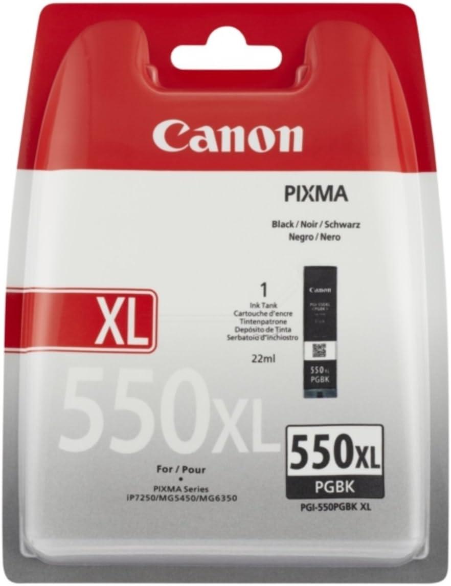 Canon PGI-550XL Cartucho de tinta original Negro XL para Impresora ...