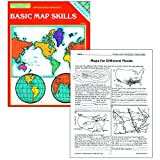 "Software : McDonald Publishing MC-R651 Basic Map Skills Reproducible Book, Grade: 6 to 9, 0.2"" Height, 8.5"" Wide, 11"" Length"
