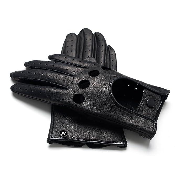 napoMODO - noir gants de conduite en cuir pour femmes  Amazon.fr  Vêtements  et accessoires 1a7723f5a50