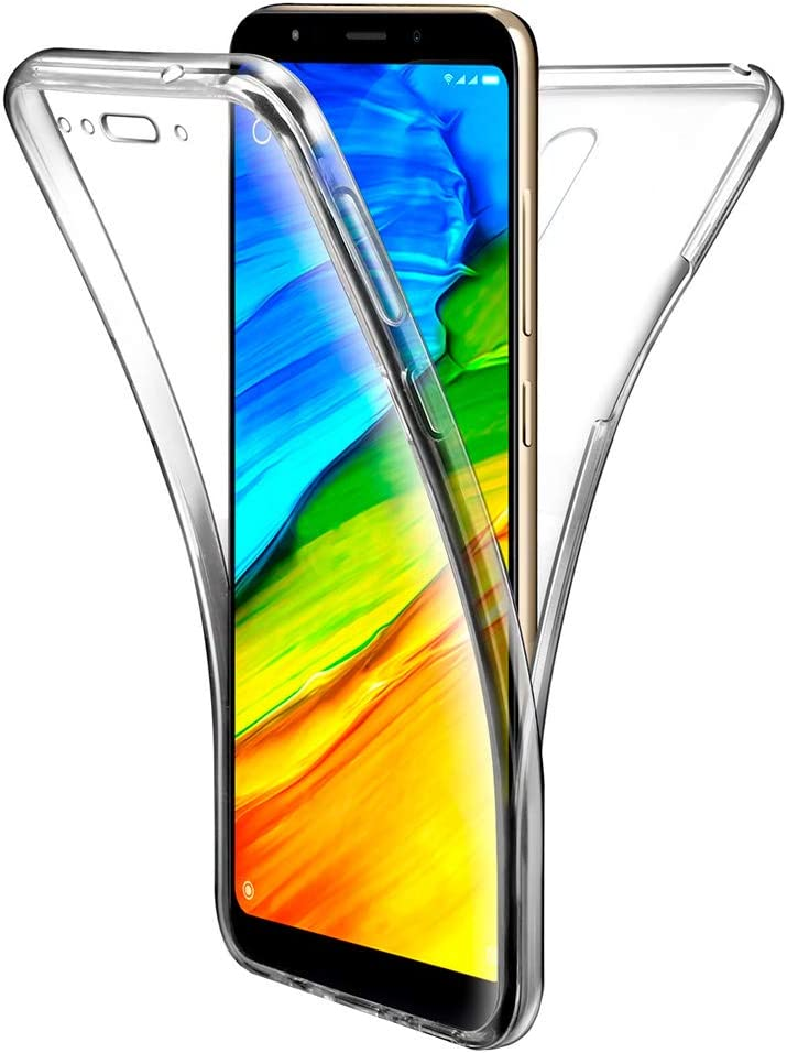 APOKIN Funda Doble Xiaomi Redmi 5 Plus Silicona Transparente Delantera y Trasera