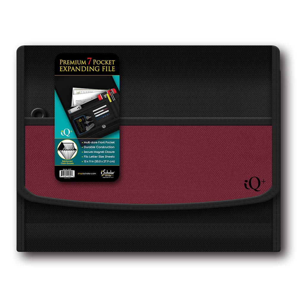 IQ Plus Premium 7 bolsillo tela expansión x carpeta, 13 x expansión 10 cm, el color puede variar (34107) 344a48
