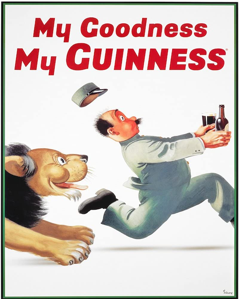 VINTAGE ART GUINNESS POSTER My Guinness NOSTALGIC  RETRO SIGN My Goodness