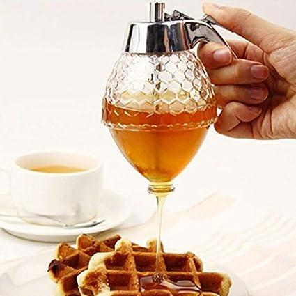 Dispensador de miel para jarabe de zumo, dispensador de miel, a prueba de golpes