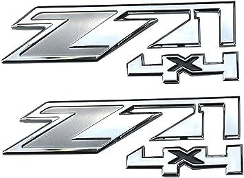 Chrome Black1 Aimoll 2pcs Z71 4x4 Emblems Replacement for GMC Chevy Silverado Sierra Tahoe Suburban New 1500 2500 3500 Decal