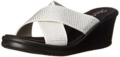 Skechers Rumblers Metal Mama, Women's Heels Sandals